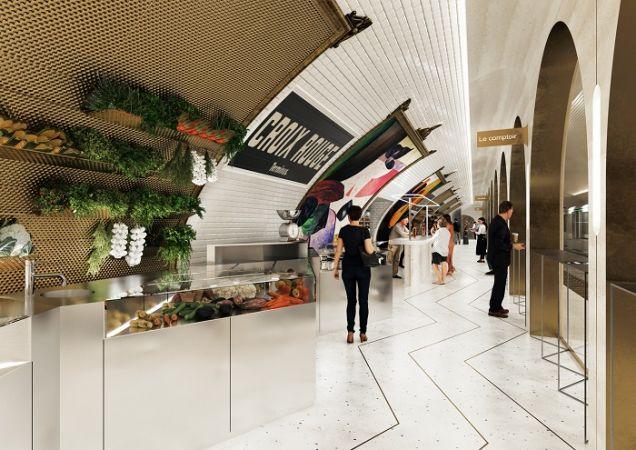 Одна из заброшенных станций парижского метро превратится в ресторан и рынок