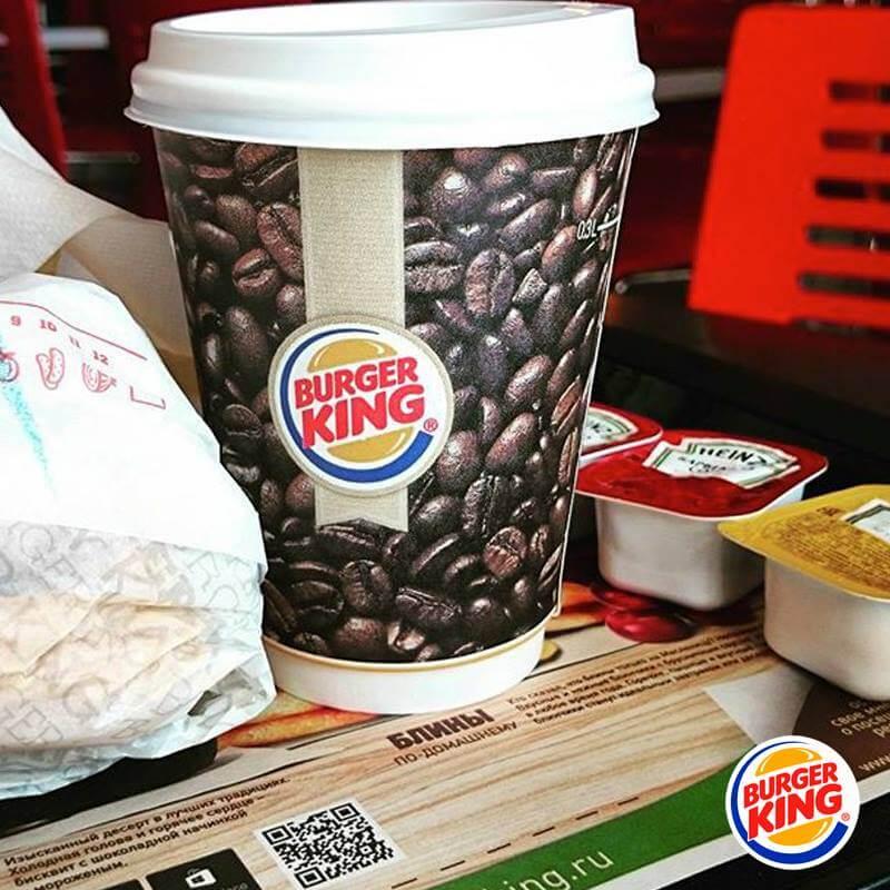 В заведениях Бургер Кинга переименовали кофе «американо» в «руссиано»