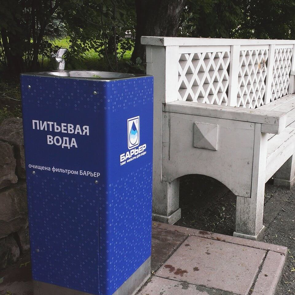 В Москве появились питьевые фонтанчики