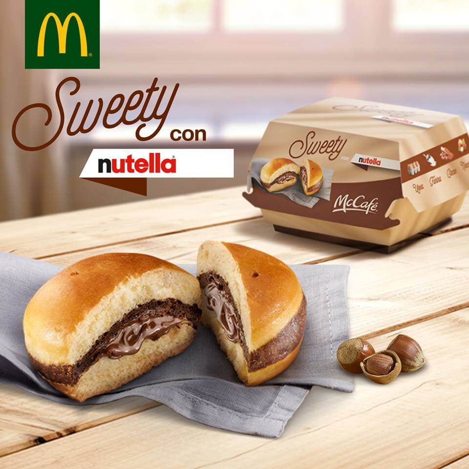 В меню Макдоналдса появился бургер с Нутеллой