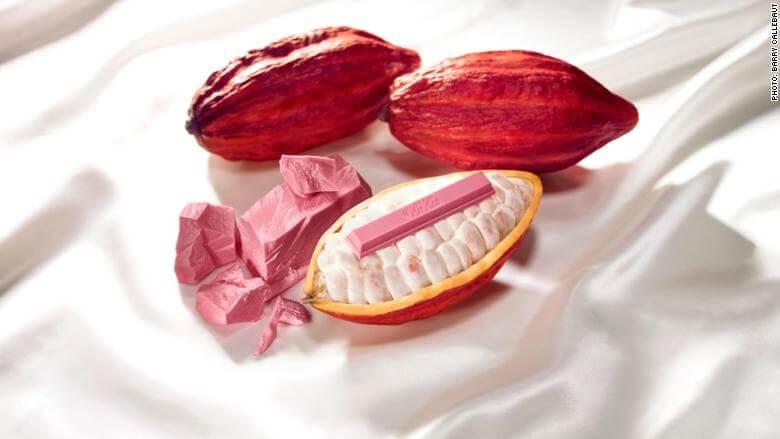 Nestle выпустила первый в мире KitKat с розовым шоколадом