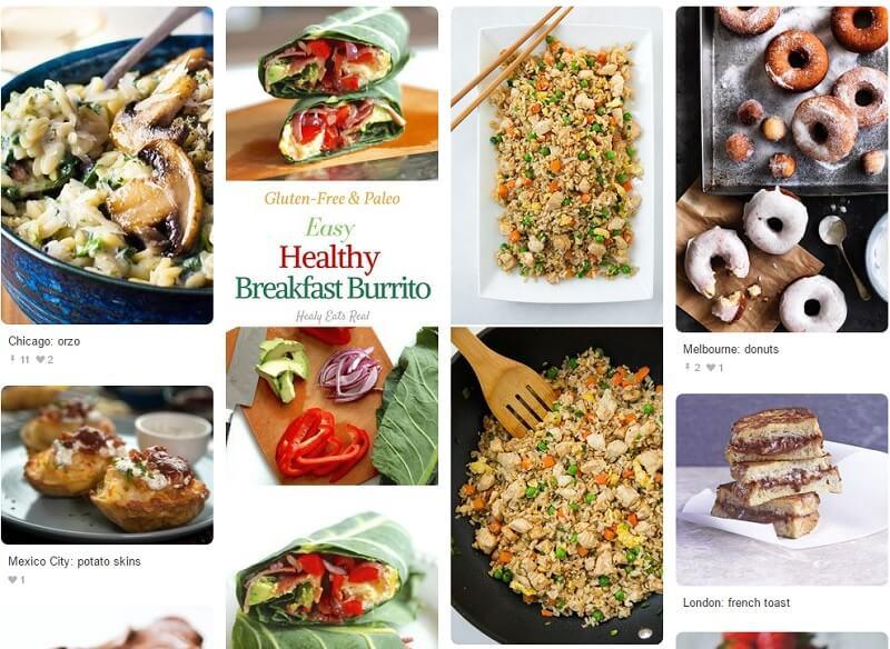 Pinterest назвал самые популярные блюда в мире по поисковым запросам