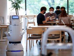 В Южной Корее в рестораны нанимают роботов для соблюдения социальной дистанции