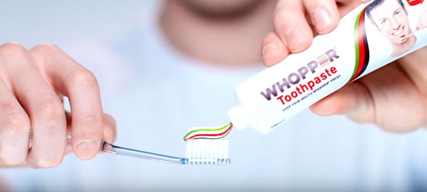 Бургер Кинг выпустил зубную пасту со вкусом воппера