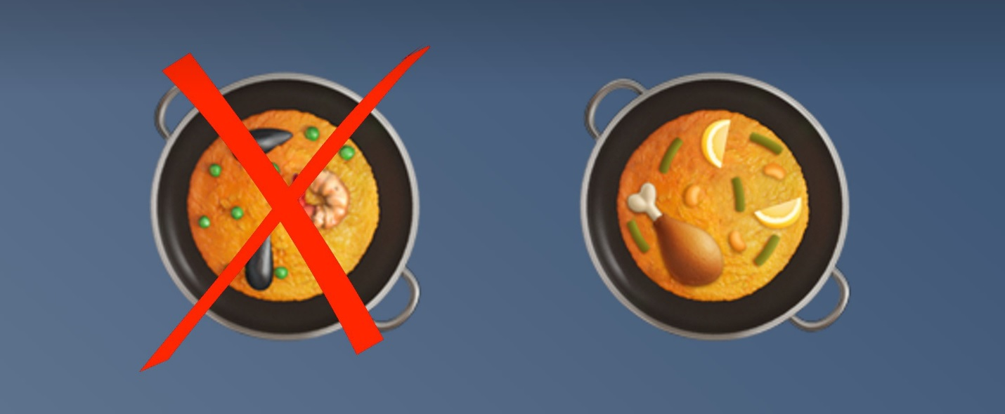 Apple исправила смайлик «паэлья» по требованию испанцев