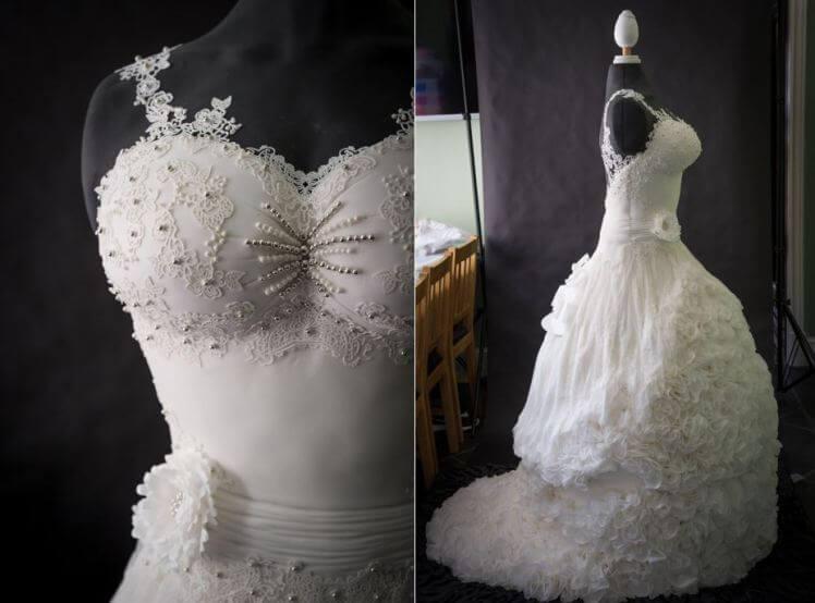 В Великобритании создали первое в мире свадебное платье-торт
