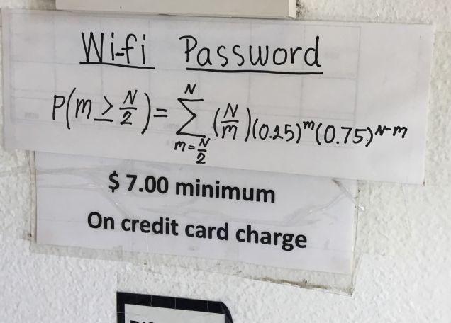 Ресторан в Техасе зашифровал пароль от Wi-Fi в уравнение