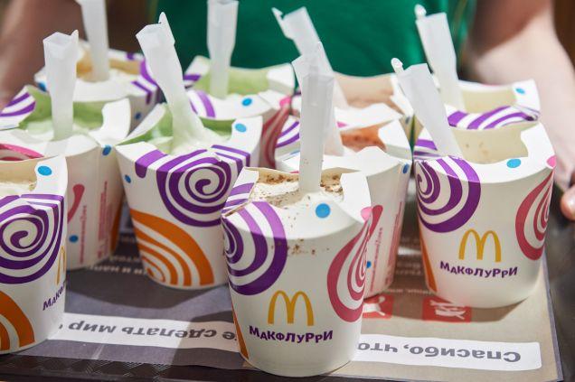 В отделениях Сбербанка открывают McDonald's