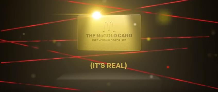 Макдоналдс разыгрывает купон на бесплатное питание в сети на всю жизнь