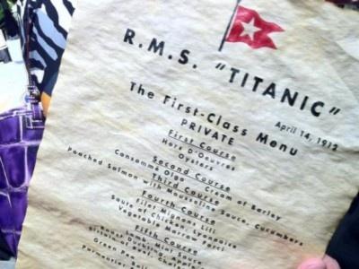 Меню из ресторана «Титаника» ушло с молотка за рекордную сумму