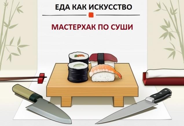 Еда как искусство: мастерхак по суши