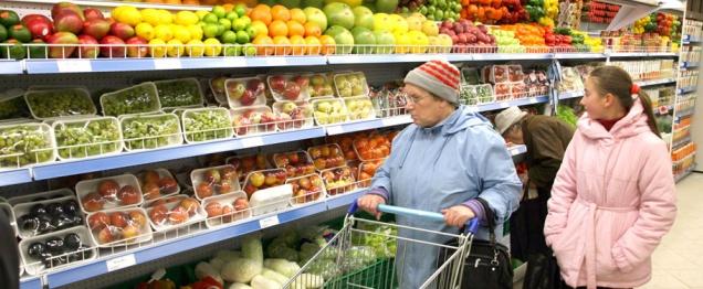 Импортные продукты в России подорожали до 45%