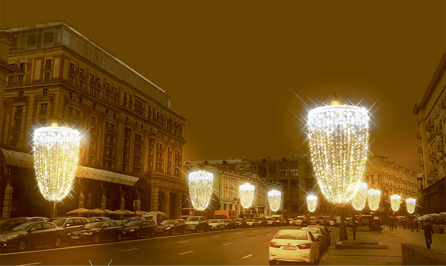 К Новому году Москву украсят фужерами для шампанского